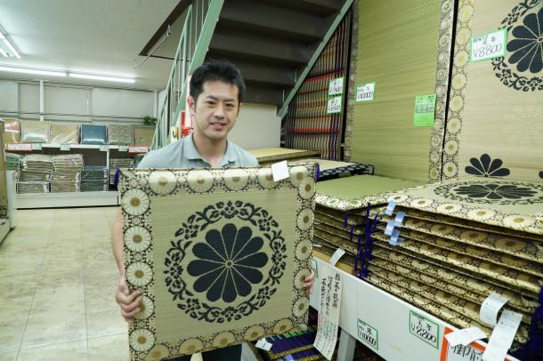 3回目の熊本い草研修② い草製品のアンテナショップ「筑後市 花ござ会館」へ