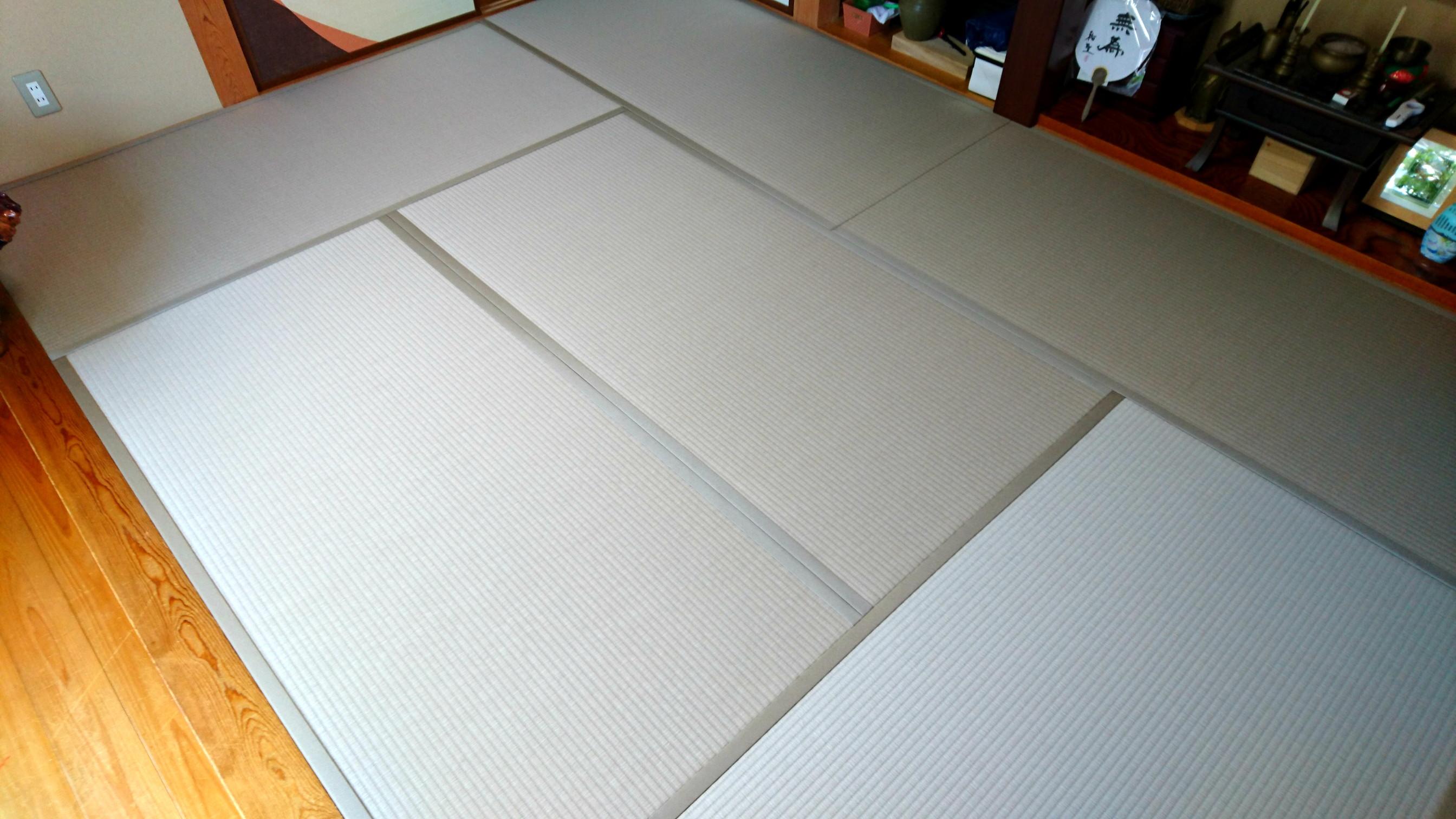 那珂市 畳替え グレーのカラー畳 S様