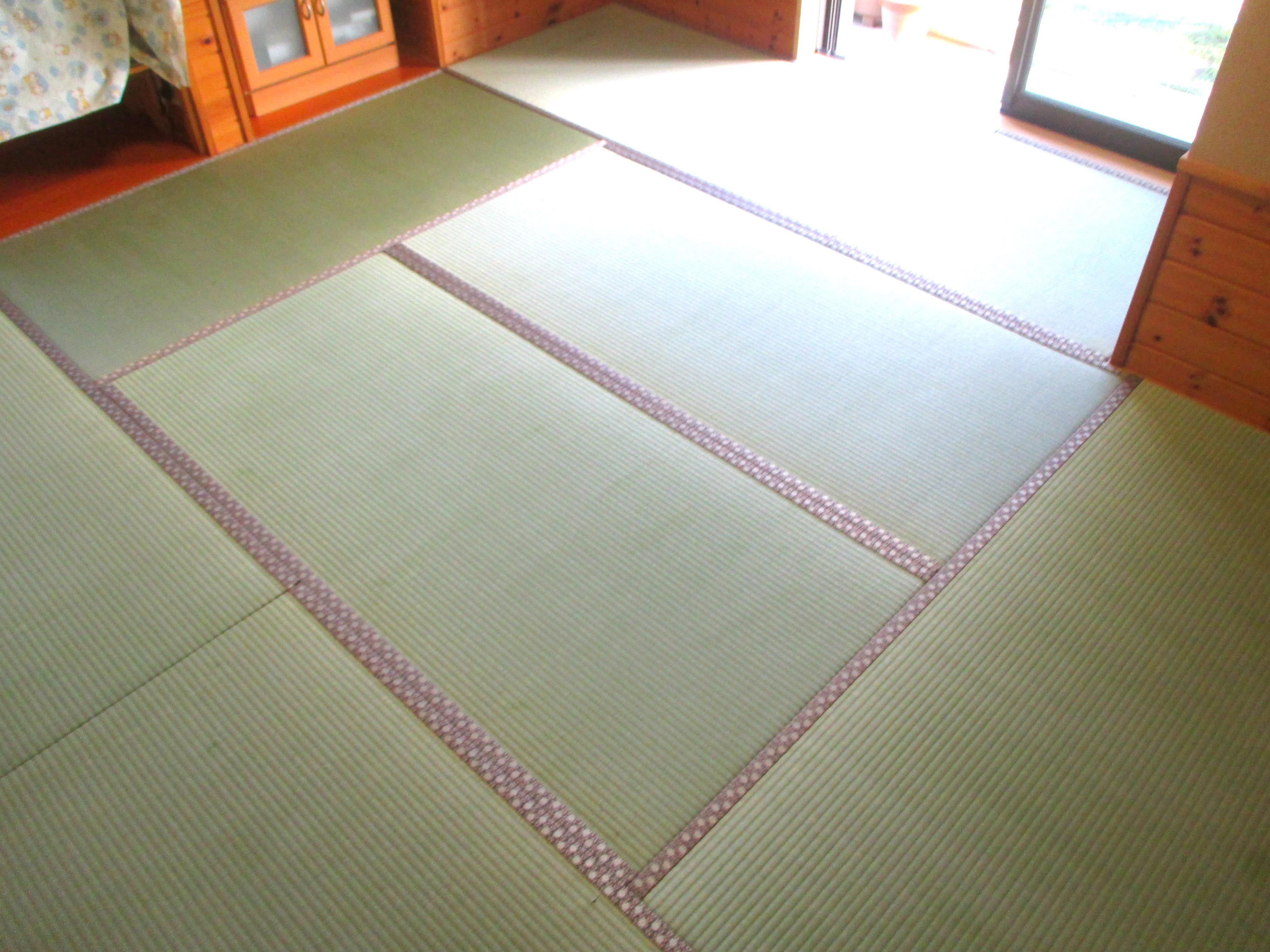 常陸太田市 畳替え(三種類の畳縁) K様邸