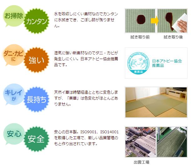 「美草」について|積水成型メーカー直営「置き畳オンラインショップ」