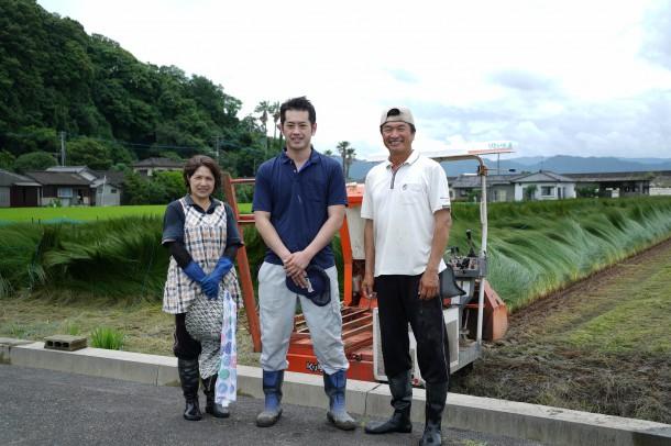3回目の熊本い草研修⑥ い草の刈り取り体験