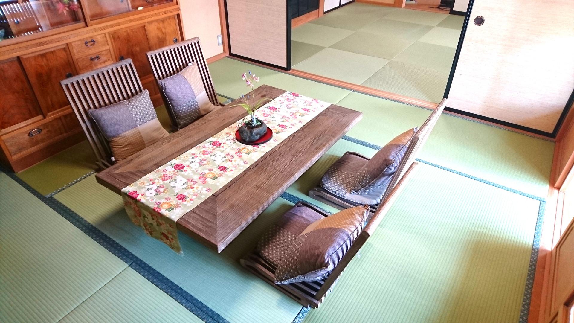 当店の1階和室を改装② 和紙の畳表に表替え