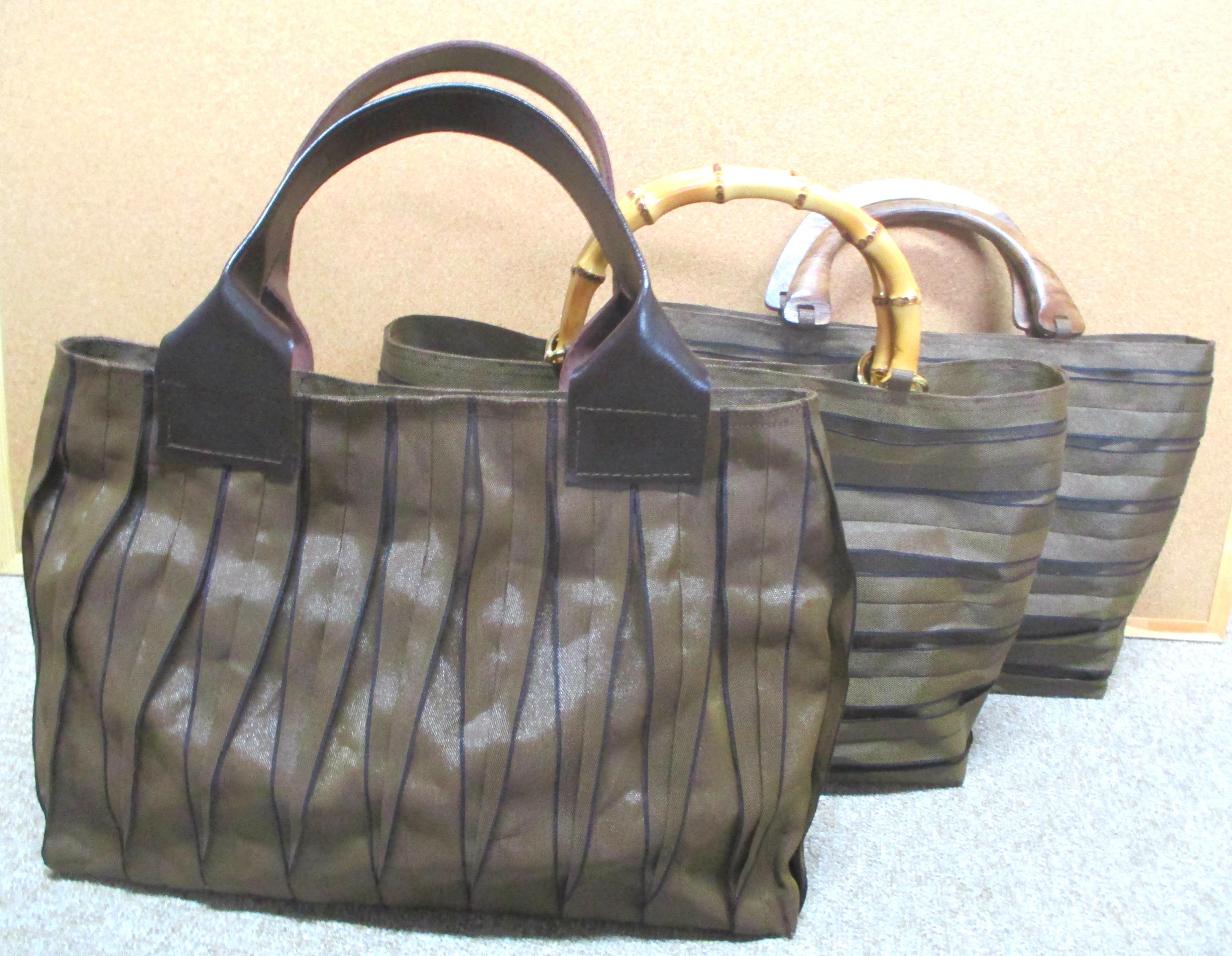 畳縁のバッグ