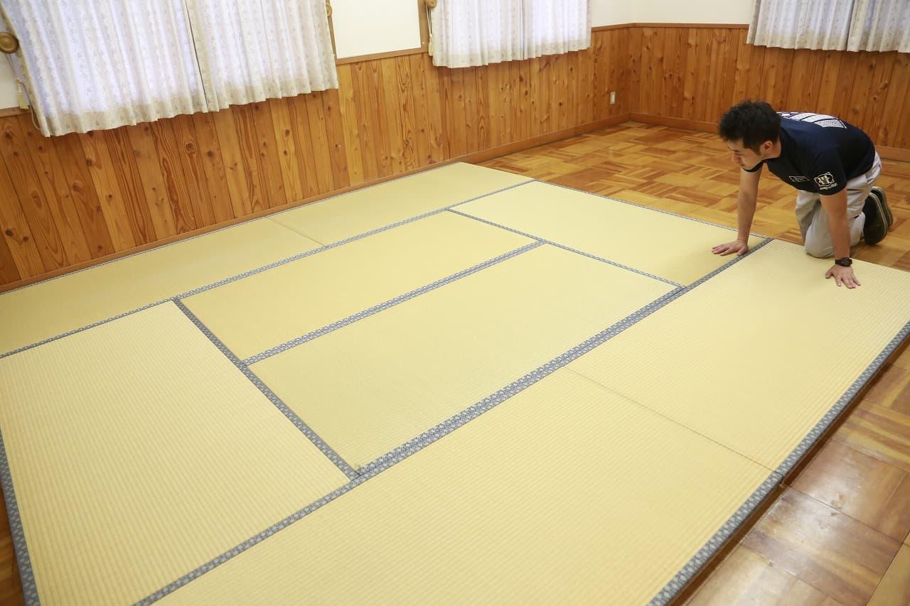 ボランティアで畳の授乳室を設置しました。